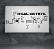 Drawing real estate icons Royalty Free Stock Photography