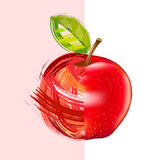 Drawing red apple Royalty Free Stock Photography