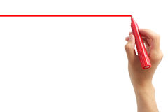 Drawing red line Royalty Free Stock Photos