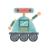 drawing robot android automation icon Stock Image