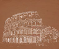 Drawing Roman Colosseum Stock Images