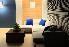Drawing room. New Year tree in a drawing room Stock Image