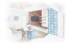 Drawing-room Immagini Stock Libere da Diritti