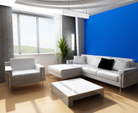 Drawing room 3d. Modern interior of a room Royalty Free Stock Photo