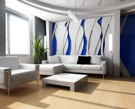 Drawing room 3d Royalty Free Stock Photography