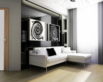 Drawing room 3d Royalty Free Stock Image