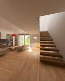 Drawing room at day. 3d render interior Vector Illustration
