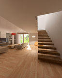 Drawing room at day. 3d render Stock Illustration