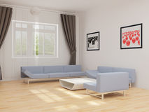 Drawing room with furniture Stock Photography