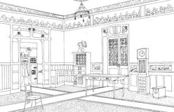 Drawing room interior Art Nouveau Royalty Free Stock Image