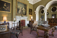 Drawing Room - Manor House - Yorkshire - England. Drawing room in the interior of a large country manor house or stately home - Yorkshire in north east England