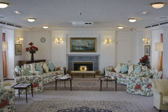 Drawing room of the Royal Yatch  Britannia Stock Photo