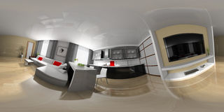 Drawing room spherical panorama Royalty Free Stock Images
