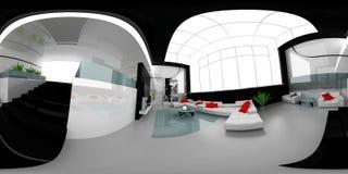 Drawing room spherical panorama Stock Image