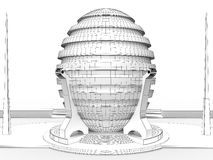 Drawing a round house �3 Stock Images