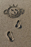 Drawing on sand Royalty Free Stock Photo