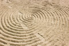 The drawing of sand is a beautiful pattern stock photography