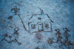 Drawing in the sand Royalty Free Stock Photography