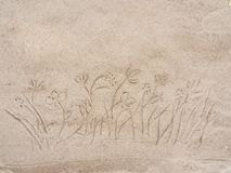 Drawing on the sand Royalty Free Stock Image