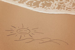 Drawing in the sand Royalty Free Stock Image