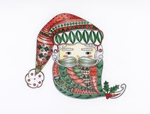A drawing of Santa Claus Royalty Free Stock Images