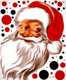 Merry and colorful Santa Claus royalty free illustration