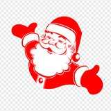 A drawing of Santa Claus hands are bred in different directions of red and white color. A drawing of Santa Claus hands are bred in different directions of red vector illustration