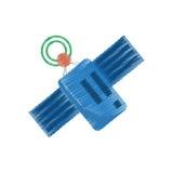 Drawing satellite antenna communication global wireless. Illustration eps 10 Stock Images