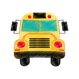 drawing school bus design Royalty Free Stock Photo