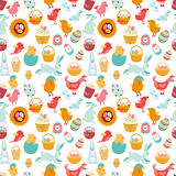 Drawing seamless Easter ornament Royalty Free Stock Image