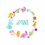Drawing seamless spring ornament. Royalty Free Stock Photos