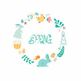 Drawing seamless spring ornament. Royalty Free Stock Photography