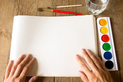 Drawing set Royalty Free Stock Photography