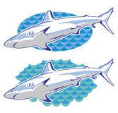 Drawing of a shark Royalty Free Stock Photography