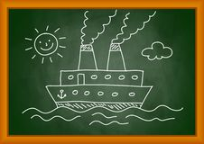 Drawing of ship Stock Photo