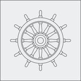 Drawing of ship wheel Royalty Free Stock Image