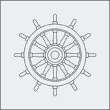 Drawing of ship wheel Royalty Free Stock Image
