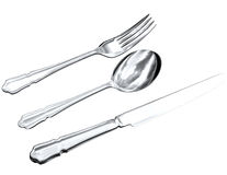 Drawing of Silverware Royalty Free Stock Images