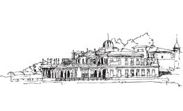 Free Drawing Sketch Illustration Of The Ferry Dock In Buyukada, Istanbul Royalty Free Stock Images - 158888759