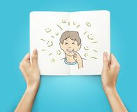 Drawing smile boy Royalty Free Stock Images