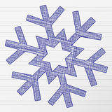 Drawing snowflake 2 Stock Images