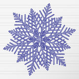 Drawing snowflake Stock Image