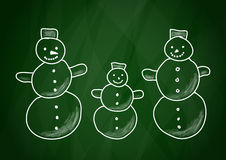 Drawing of snowmen Royalty Free Stock Image