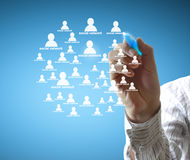 Drawing social network structure Royalty Free Stock Image
