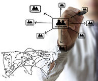 Drawing social network structure Stock Photos