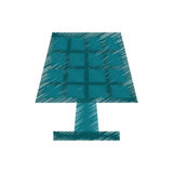 Drawing solar panel energy ecological clean Royalty Free Stock Image