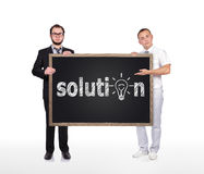 Drawing solution Stock Photography