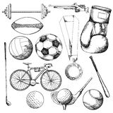 Drawing of sport element Stock Photos