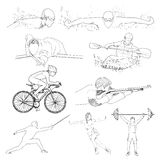 Drawing of sport element Stock Images