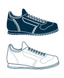 Drawing of sports shoes Stock Photography